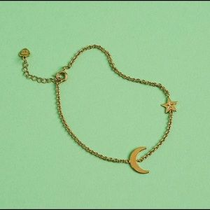 NEW la soula gold moon star bracelet